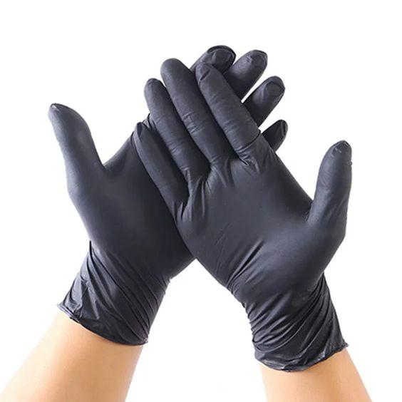 دستکش نیتریل مشکی نیتکس – سایز مدیوم-بسته 100 عددی