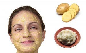 ماسک روشن کننده پوست سیب زمینی