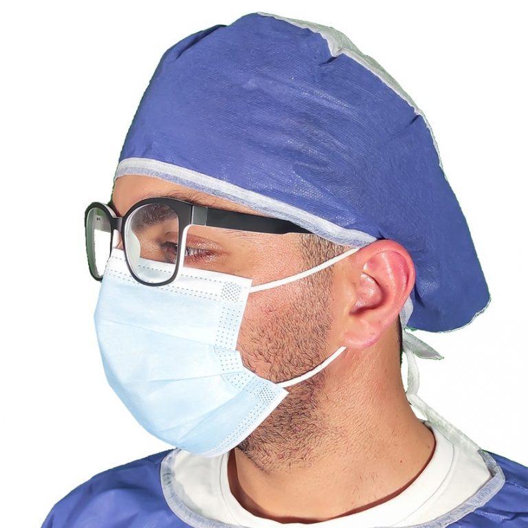 کلاه جراح بند دار- بسته 50 عددی