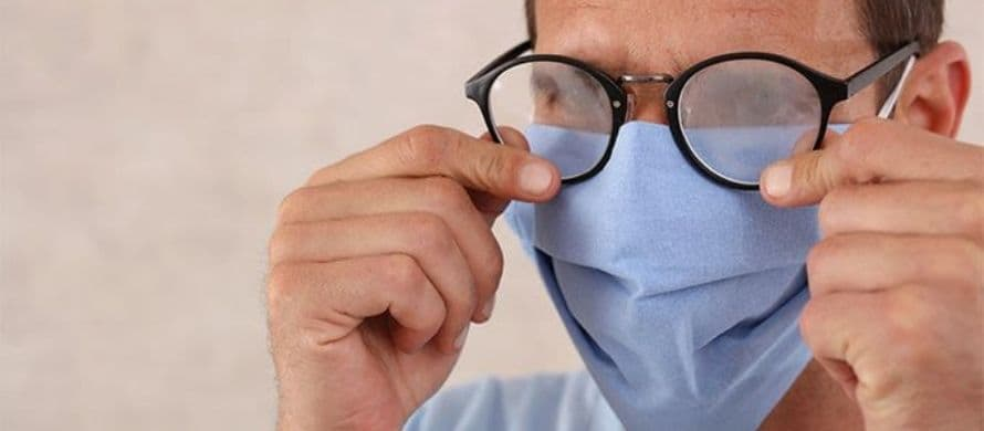 کاهش ایجاد بخار روی شیشه عینک