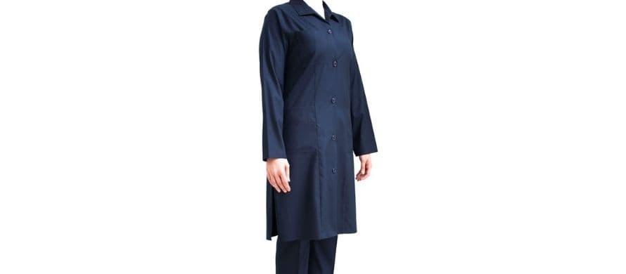 مدل مانتو و شلوار پرستاری اداری سورمه ای رنگ