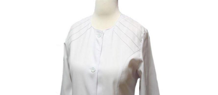 روپوش سفید زنانه مدل خورشیدی