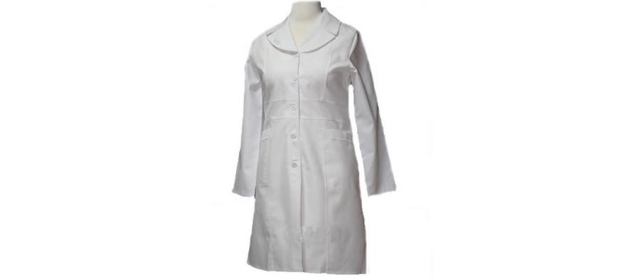 روپوش سفید زنانه ترگال مدل دو یقه
