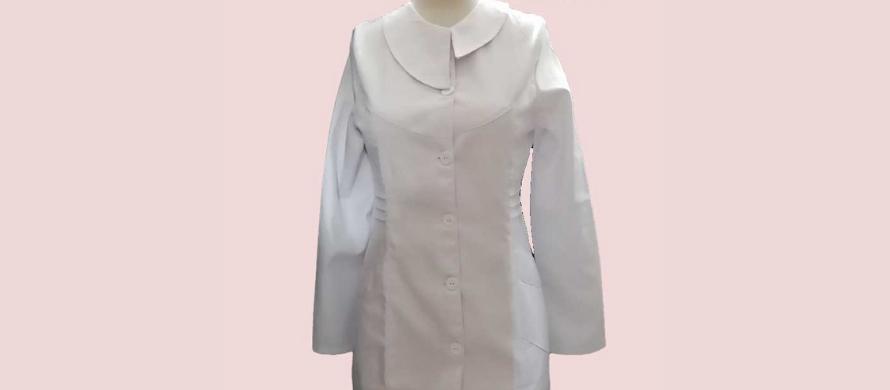 روپوش سفید زنانه یقه کوتاه بلند