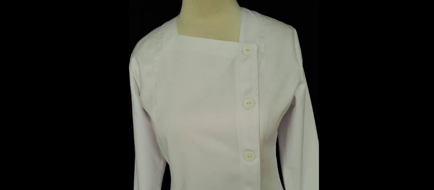 روپوش سفید زنانه مدل دکمه از بغل