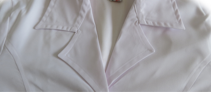 روپوش سفید زنانه مدل سه جیب