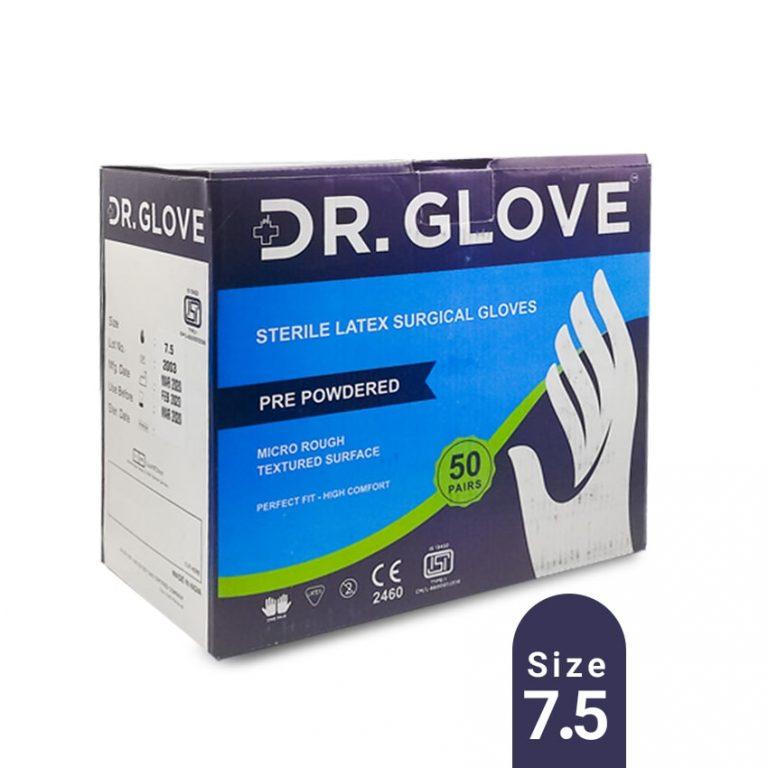 دستکش جراحی کم پودر دکتر گلاو – سایز 7.5-بسته 50 جفتی